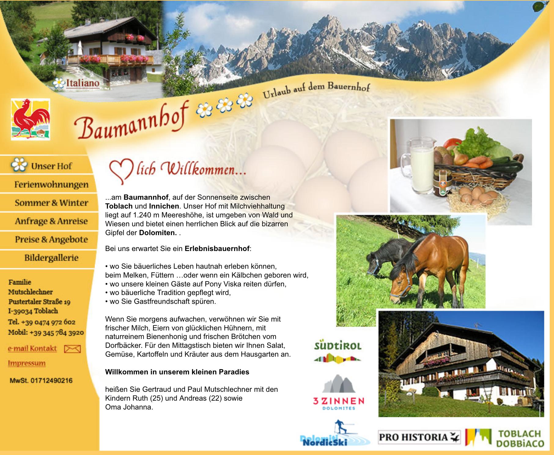 Baumannhof - Urlaub auf dem Bauernhof